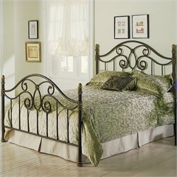 Pemberly Row Metal Poster Bed in Autumn Brown