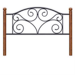 Pemberly Row Spindle Poster Headboard in Black and Walnut