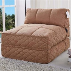 Pemberly Row Convertible Bean Bag Chair Bed-MER-823