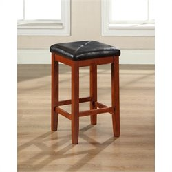 Square Counter Stool in Mahogany (Set of 2)