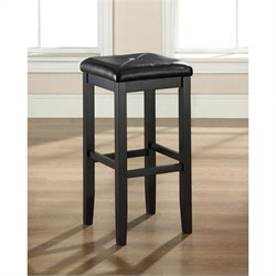 Square Counter Stool in Black (Set of 2)