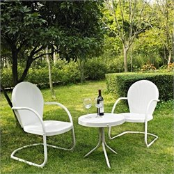 3 Metal Outdoor Seating Set