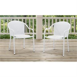 3 Piece Outdoor Wicker Chair Set