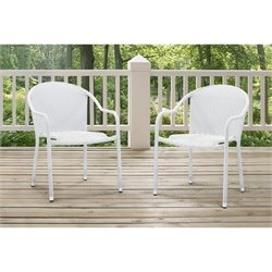 Outdoor Wicker Chairs (Set of 2)
