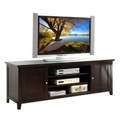 Pemberly Row Oak TV Console in Espresso Finish