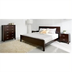 Pemberly Row 4 Piece Bedroom Set in Brown