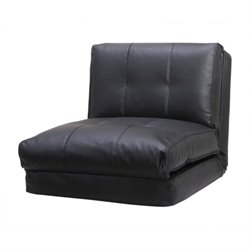 Pemberly Row Single Sleeper Sofa in Black