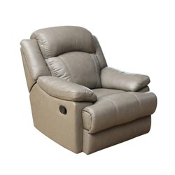 Pemberly Row Leather Recliner in Grey