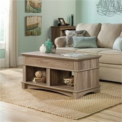 Pemberly Row Lift Top Coffee Table in Salt Oak