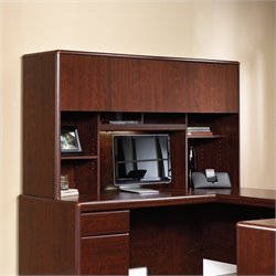 Pemberly Row Hutch for Desk and Return in Classic Cherry