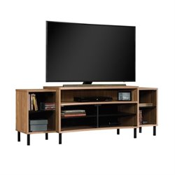 Pemberly Row Curved TV Stand in Fine Walnut