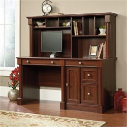 Pemberly Row Computer Desk with Hutch in Cherry