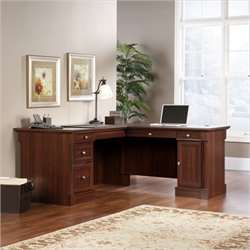 Pemberly Row L Shaped Computer Desk in Cherry