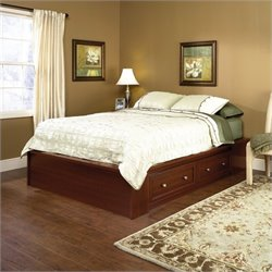 Pemberly Row Queen Platform Bed in Cherry