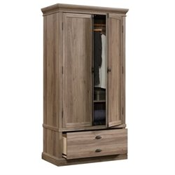 Pemberly Row Bedroom Armoire in Salt Oak
