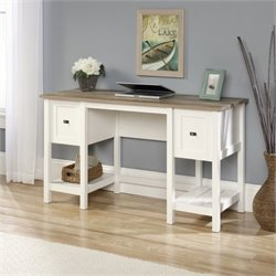 Pemberly Row Home Office Desk in Soft White