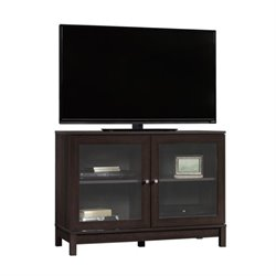 Pemberly Row Accents TV Stand in Cinnamon Cherry