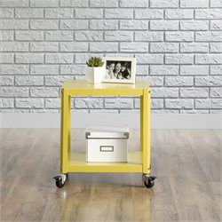 Pemberly Row Accent Cart in Citron Green