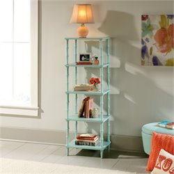 Pemberly Row 4 Shelf Tower Etagere in Seafoam