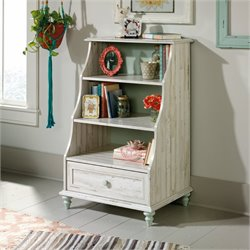 Pemberly Row 3 Shelf Accent Bookcase in White Plank