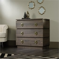 Pemberly Row 3 Drawer Chest in Fossil Oak