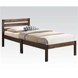 Pemberly Row Twin Platform Bed in Ash Brown