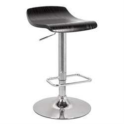 Pemberly Row Swivel Adjustable Bar Stool in Black