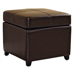 MER-992 Square Leather Storage Ottoman 1