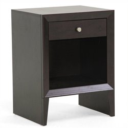 Pemberly Row End Table in Dark Brown