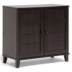 Pemberly Row Shoe Cabinet in Dark Brown