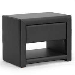 MER-992 Faux Leather Nightstand
