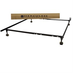MER-1369 Standard Adjustable Metal Bed Frame in Black