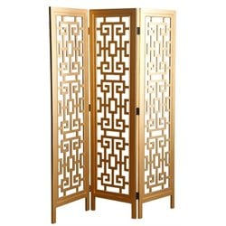 Pemberly Row 3 Panel Room Divider in Gold