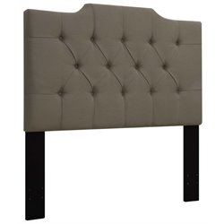 MER-1396 Upholstered Panel Headboard in Taupe Brown