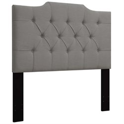 MER-1396 Upholstered Panel Headboard in Ash Gray