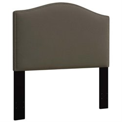 MER-1396 Upholstered Panel Headboard in Taupe Brown 1