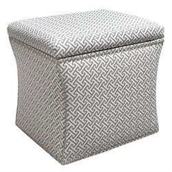 Pemberly Row Nail Button Storage Ottoman in Gray