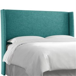 MER-1396 Upholstered Panel Headboard in Peacock