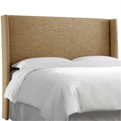MER-1396 Upholstered Panel Headboard in Zuma Linen