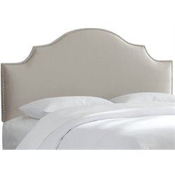 MER-1396 Upholstered Panel Headboard in Light Gray