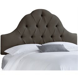 MER-1396 Upholstered Tufted Panel Headboard in Slate 1