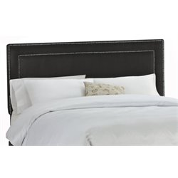 MER-1396 Upholstered Tufted Panel Headboard in Black