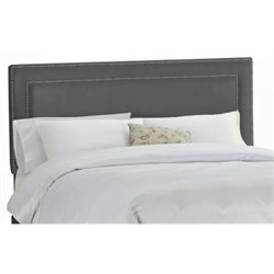 MER-1396 Upholstered Panel Headboard in Charcoal
