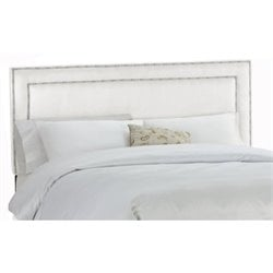 MER-1396 Upholstered Panel Headboard in White