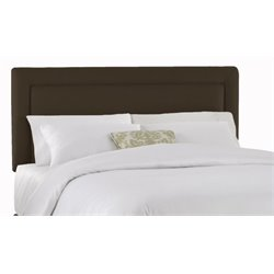 MER-1396 Upholstered Panel Headboard in Chocolate 1