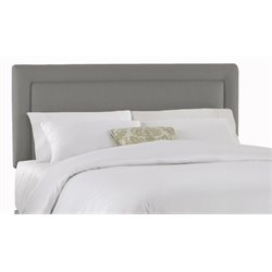 MER-1396 Upholstered Panel Headboard in Gray