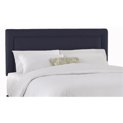 MER-1396 Upholstered Panel Headboard in Navy