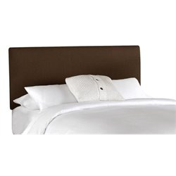 MER-1396 Upholstered Panel Headboard in Chocolate 2