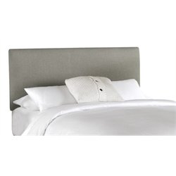 MER-1396 Upholstered Panel Headboard in Gray 1