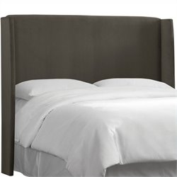 MER-1396 Upholstered Panel Headboard in Black Charcoal